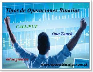 tipos de operações em opções binárias